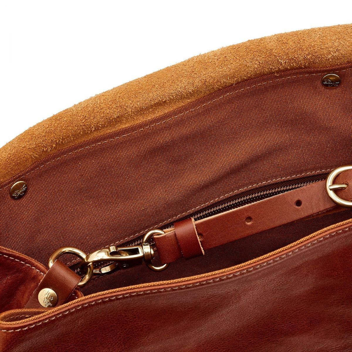 Trappola - Zaino da Uomo in Pelle Di Vacchetta Invecchiata BBA002 colore Seppia | Details