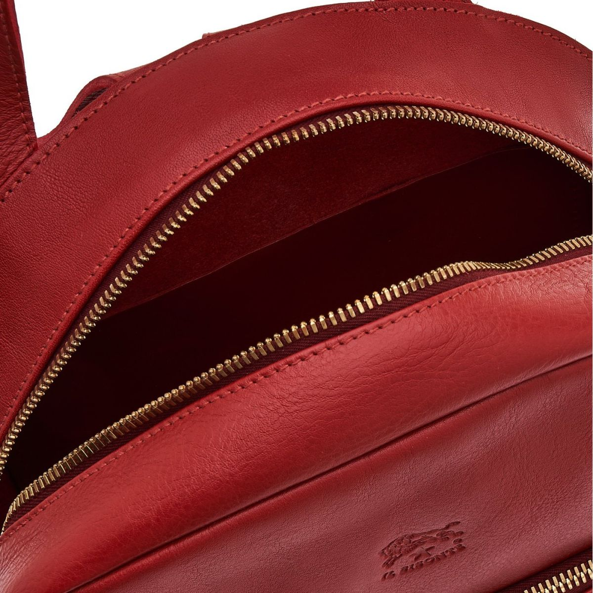Women's Backpack Lungarno in Cowhide Double Leather BBA017 color Red | Details