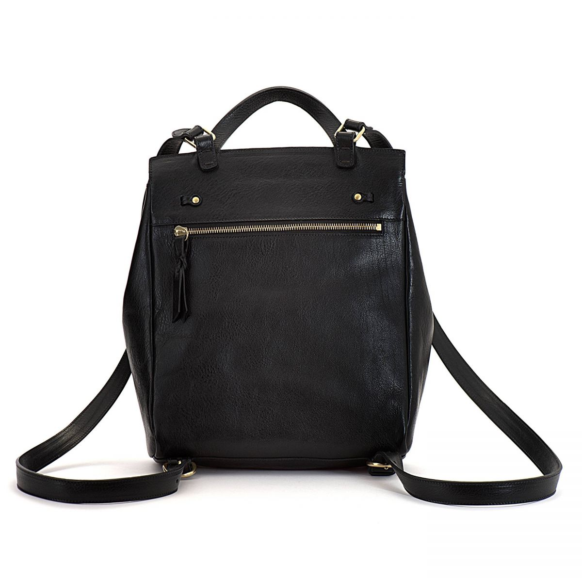 Women's Backpack Tornabuoni in Cowhide Double Leather BBA019 color Black | Details