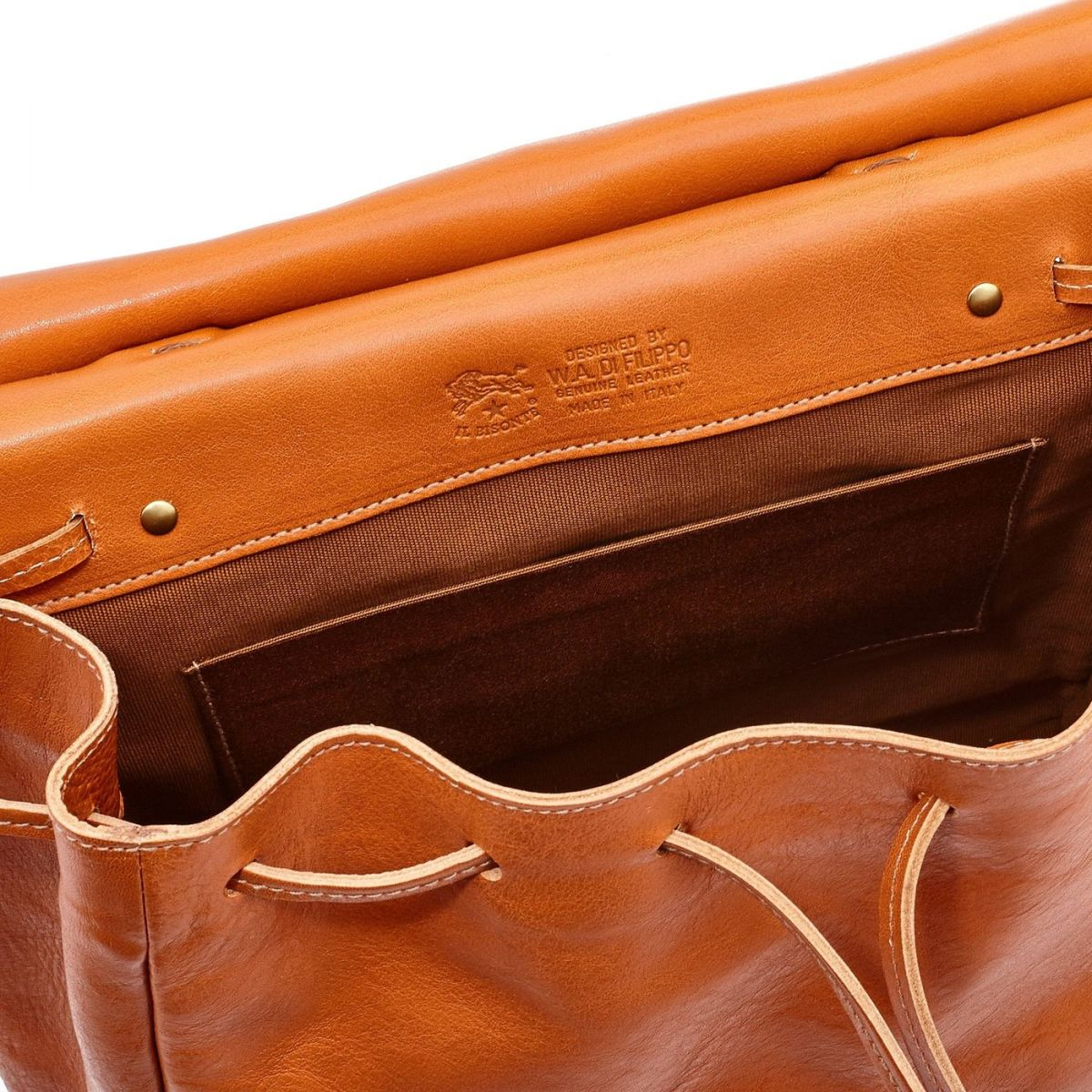 Women's Backpack Tornabuoni in Cowhide Double Leather BBA019 color Caramel | Details