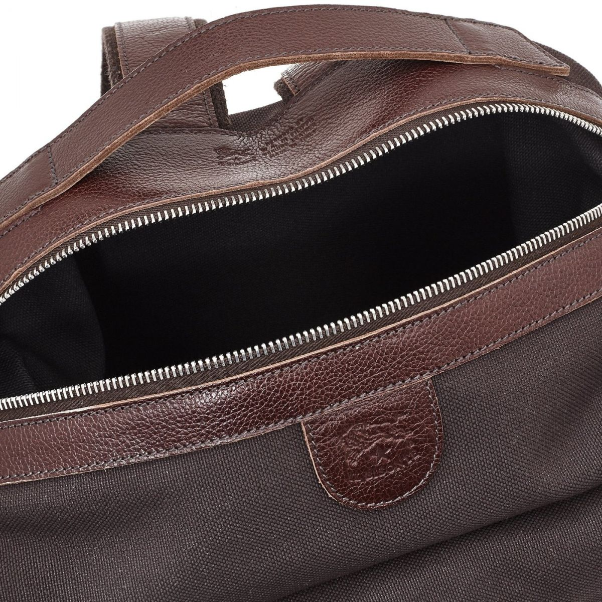 Men's Backpack  in Technical Fabric BBA033 color Brown | Details
