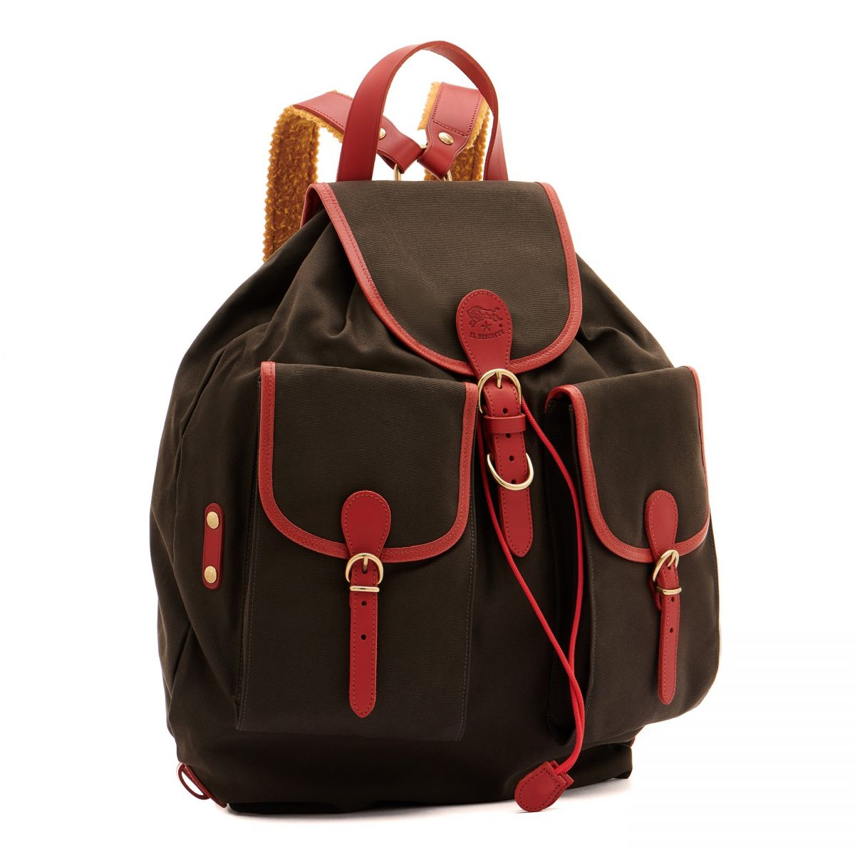 Men's Backpack  in Cotton Canvas BBA051 color Sdraio | Details