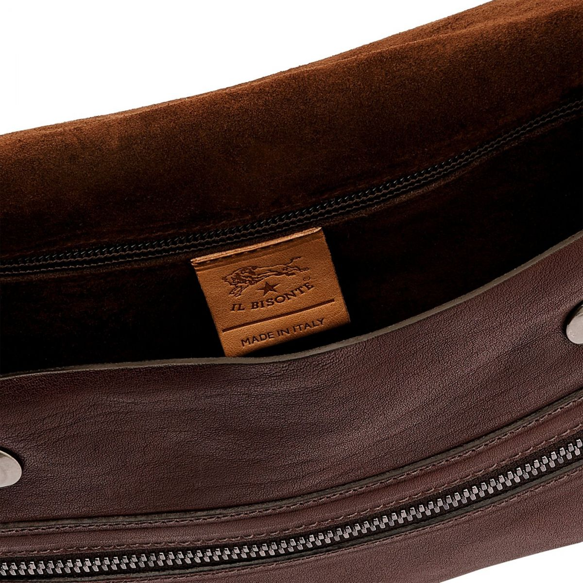 Men's Belt Bag Narciso in Vintage Cowhide Leather BBB024 color Dark Brown | Details