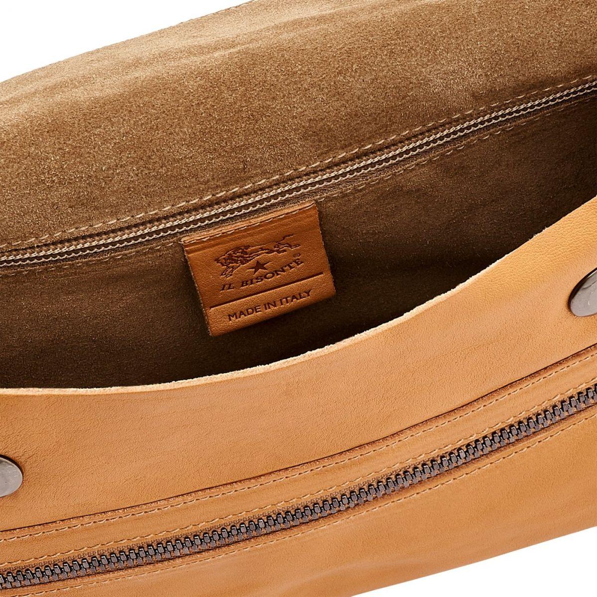 Men's Belt Bag Narciso in Vintage Cowhide Leather BBB024 color Natural | Details