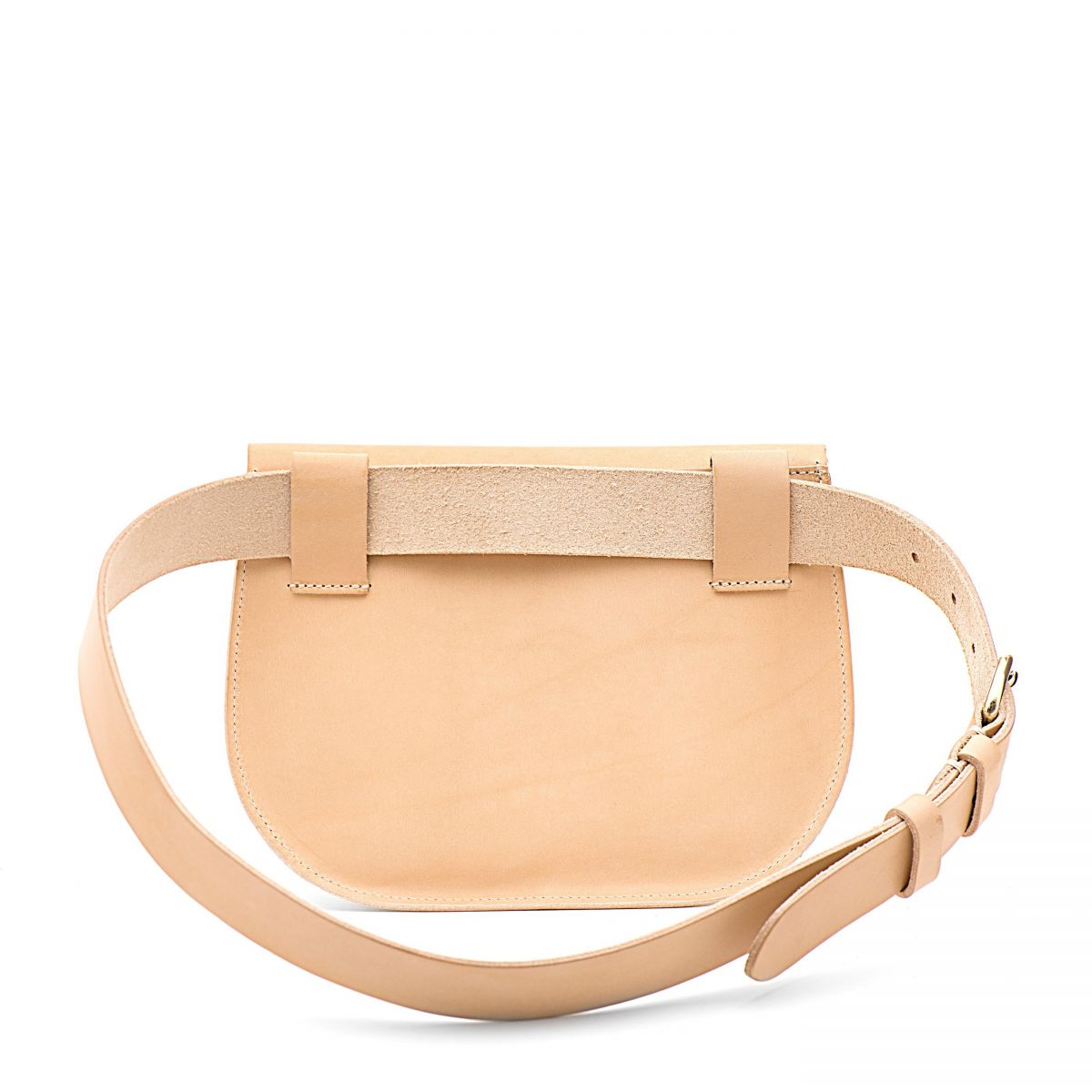 Women's Belt Bag Parione in Cowhide Double Leather BBB026 color Natural | Details