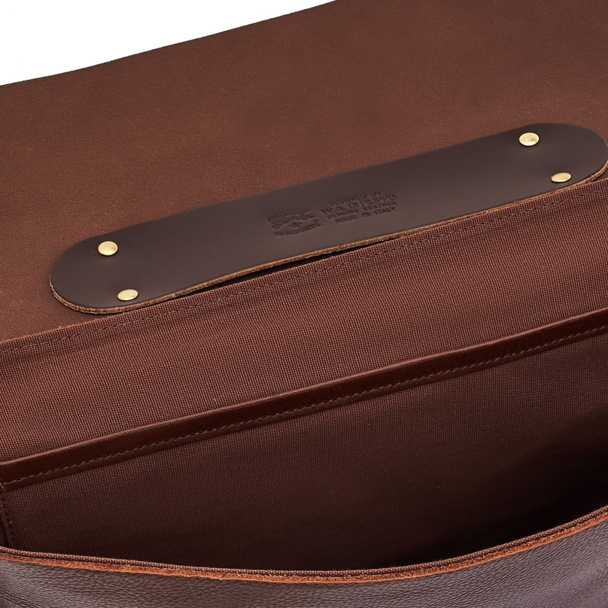 Briefcase in Cowhide Double Leather BBC001 color Brown | Details