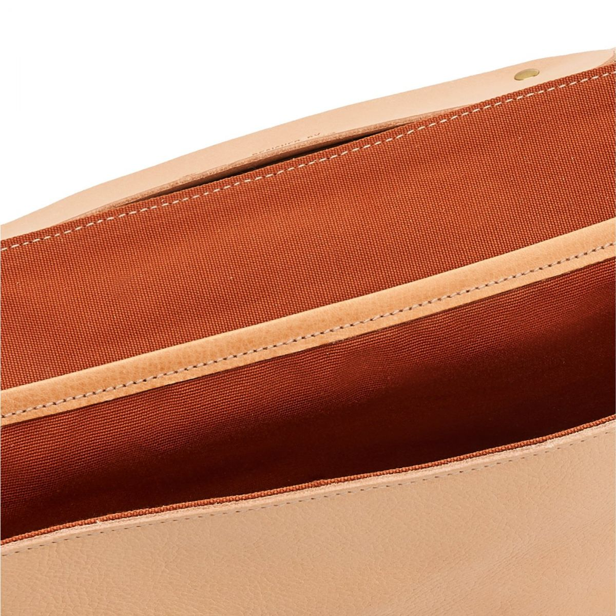 Briefcase in Cowhide Double Leather BBC001 color Natural | Details