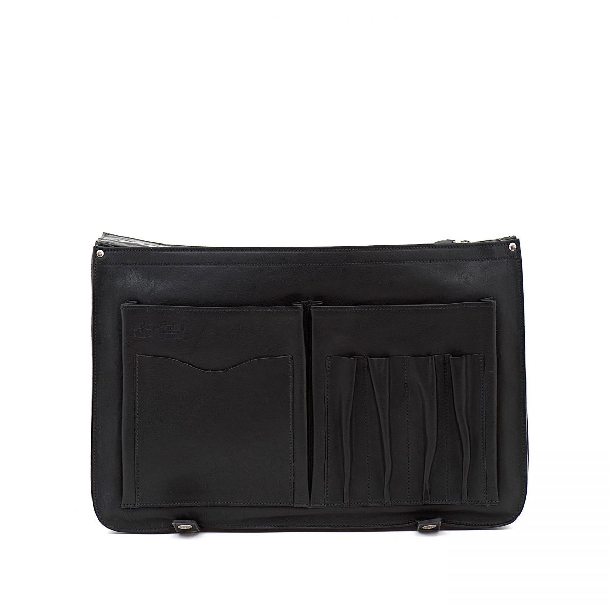 Briefcase in Vintage Cowhide Leather BBC013 color Black | Details