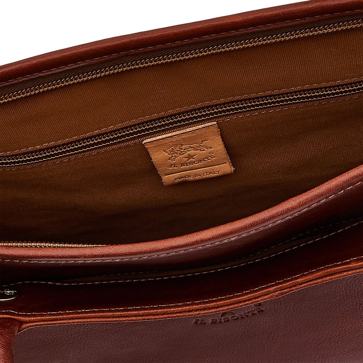 Briefcase in Vintage Cowhide Leather BBC017 color Dark Brown Seppia | Details