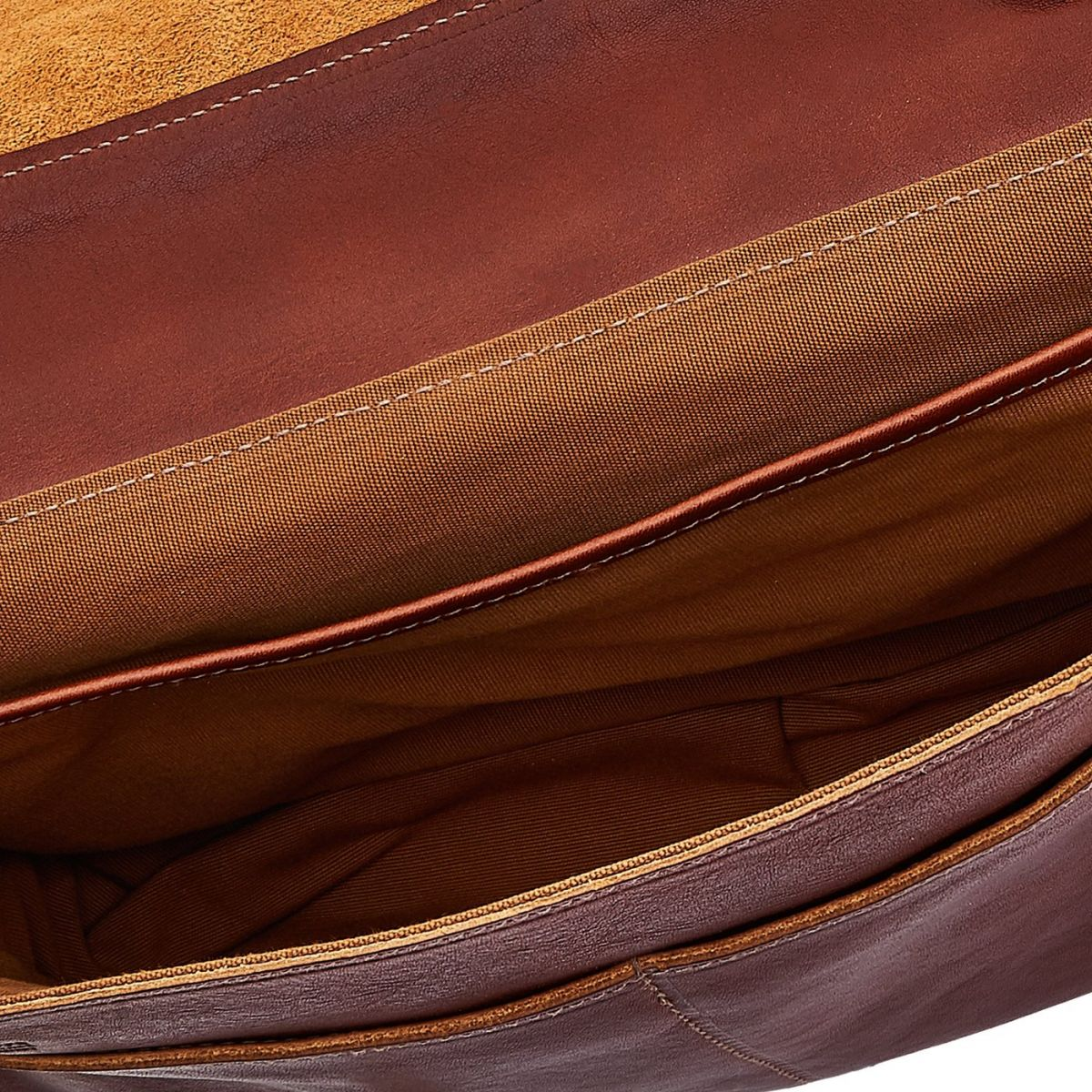 Briefcase in Vintage Cowhide Leather BBC025 color Dark Brown Seppia | Details