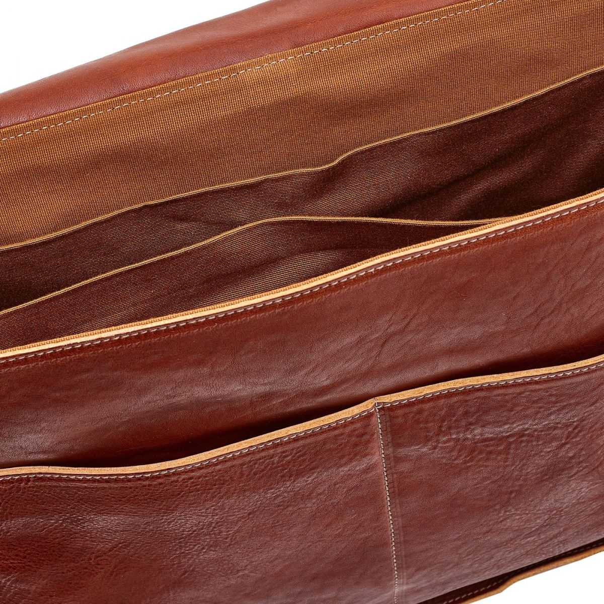 Briefcase in Vintage Cowhide Leather BBC026 color Dark Brown Seppia | Details