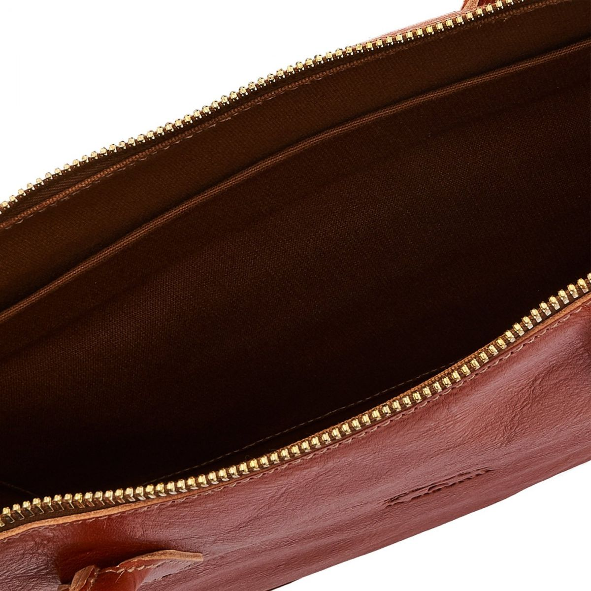 Briefcase Michelangelo in Cowhide Double Leather BBC035 color Caramel | Details