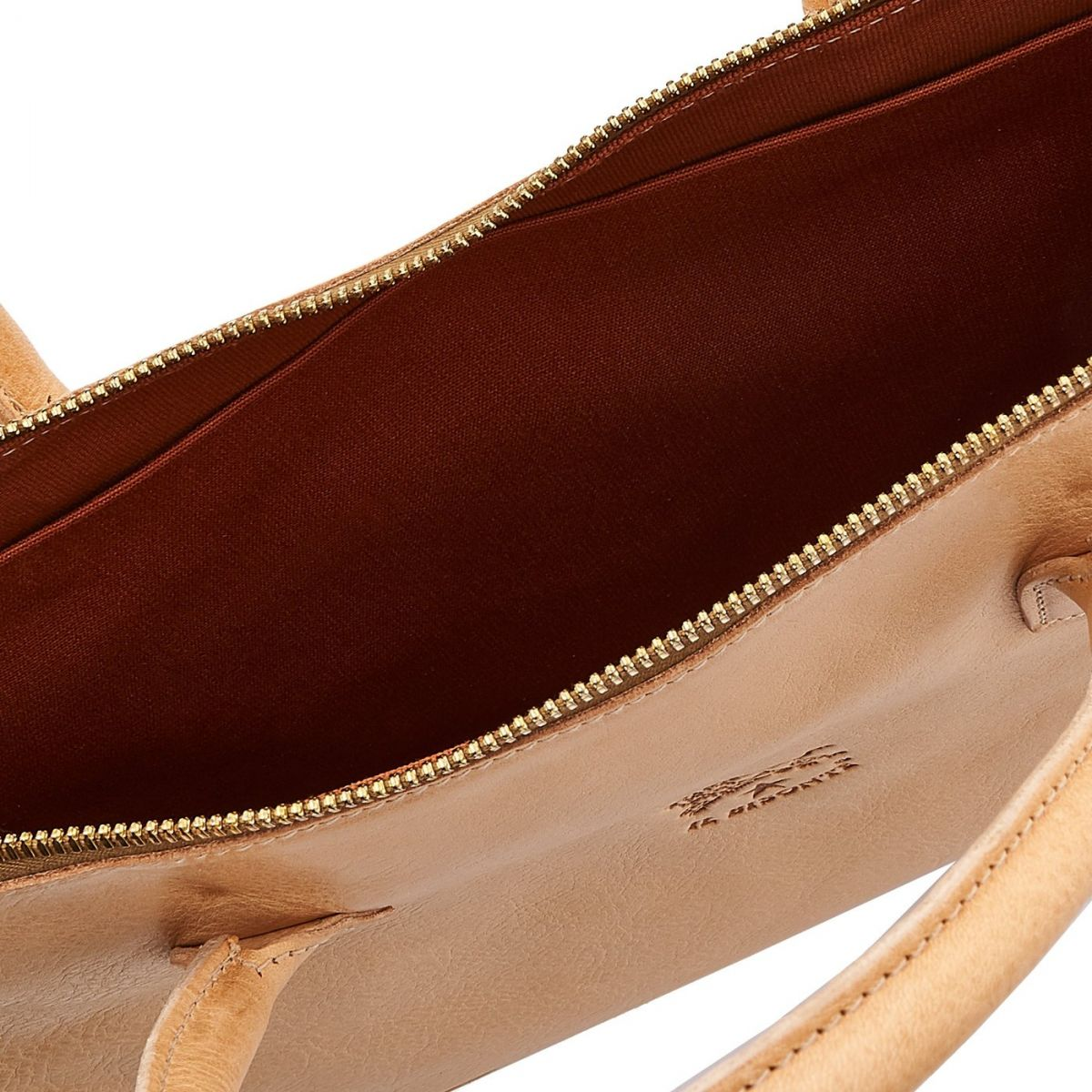 Briefcase Michelangelo in Cowhide Double Leather BBC035 color Natural | Details