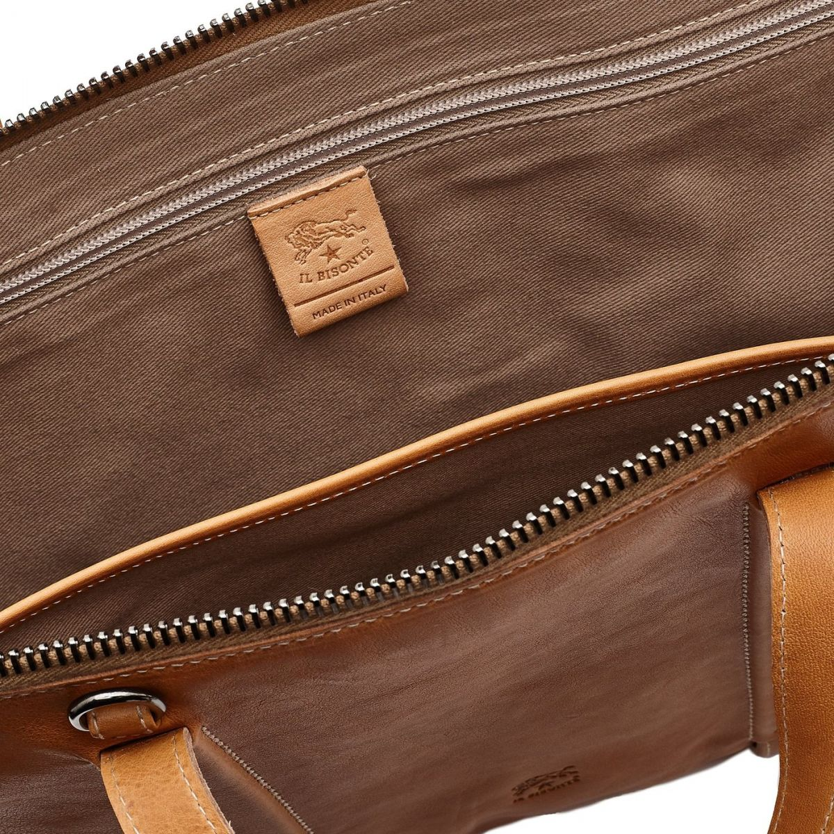 Briefcase Sprint in Vintage Cowhide Leather BBC040 color Natural | Details