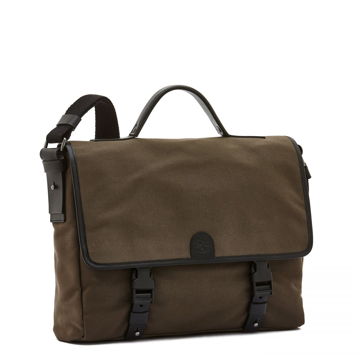 Briefcase  in Technical Fabric BBC044 color Khaki/Black | Details