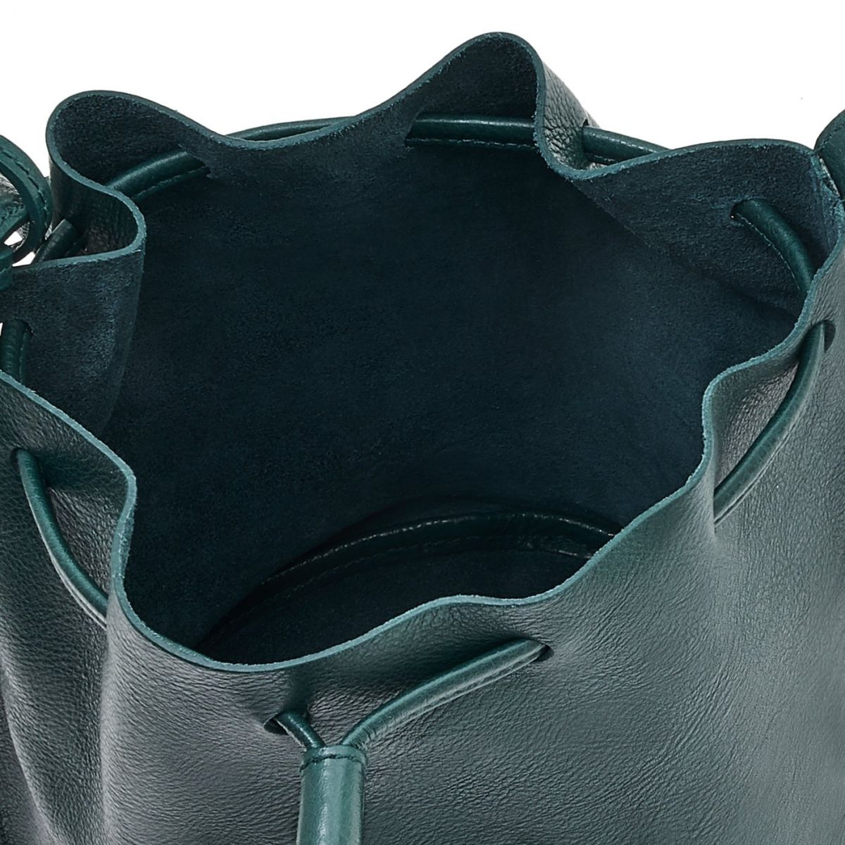Women's Bucket Bag Stibbert in Cowhide Leather BBU006 color Rosemary | Details