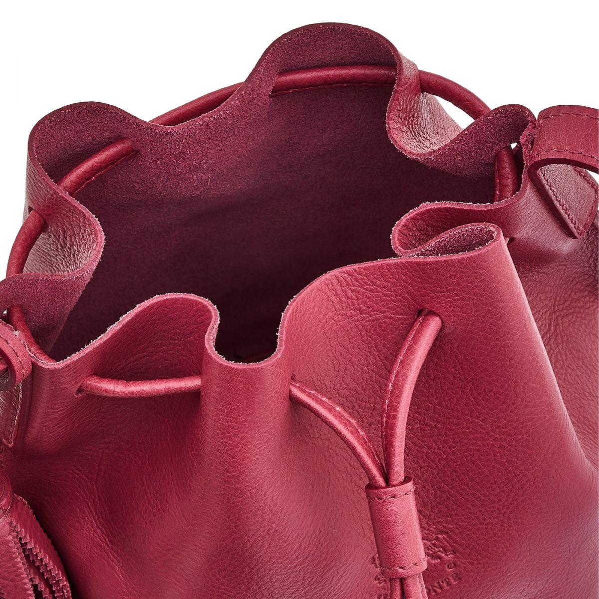 Silvia - Women's Bucket Bag Stibbert in Cowhide Leather BBU006 color Sumac | Details