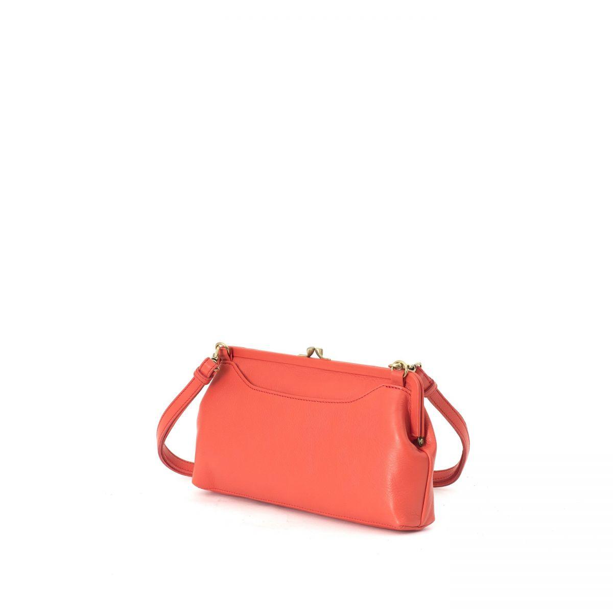 Women's Clutch Bag in Cowhide Leather BCL006 color Gazpacho   Details