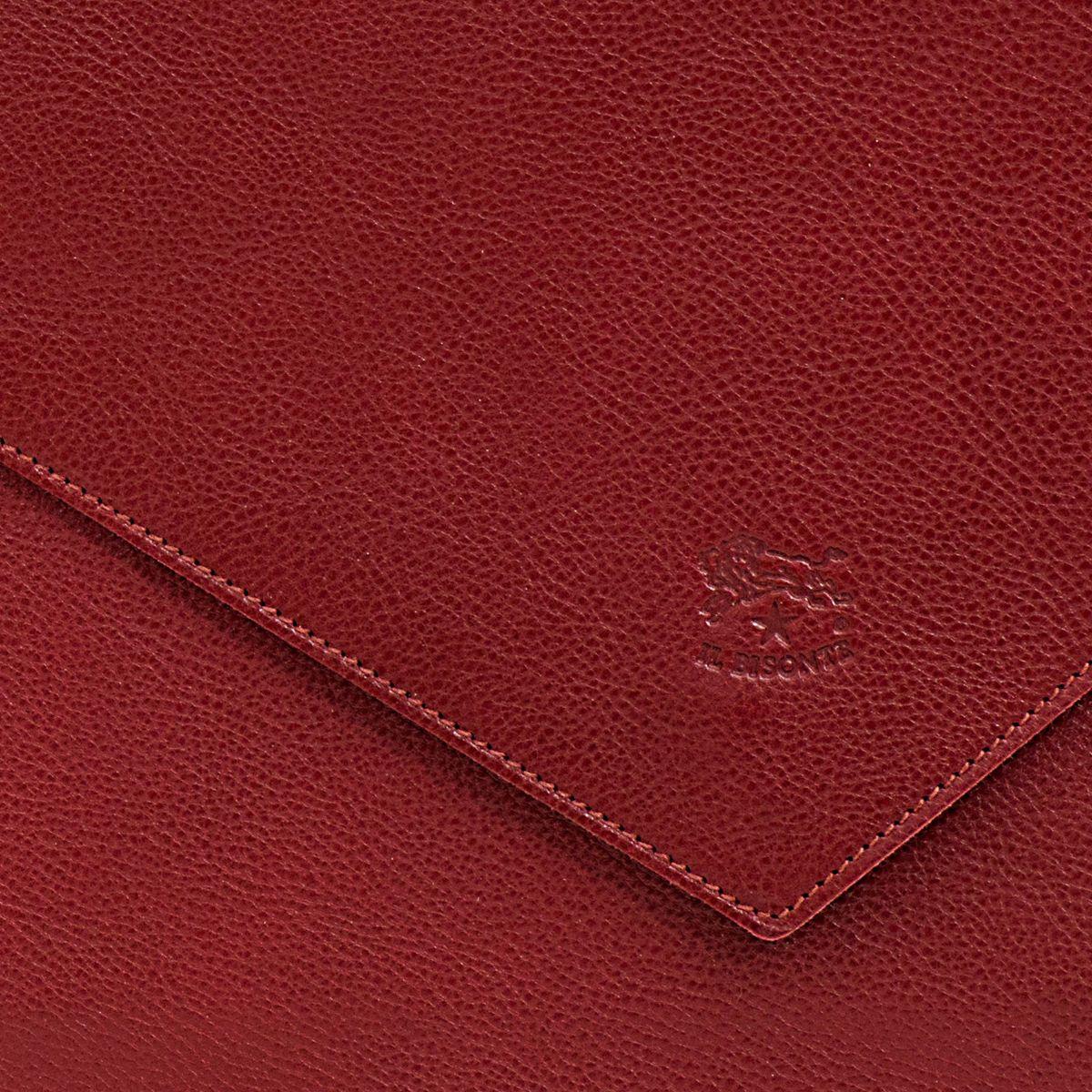 Pochette da Donna Boboli in Doppia Pelle Di Vacchetta BCL014 colore Rosso | Details
