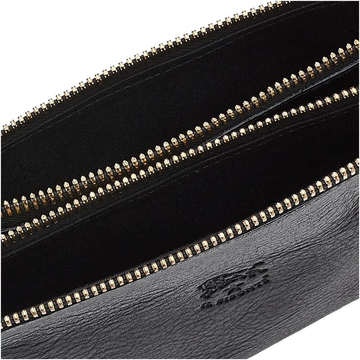 Women's Clutch Bag Talamone in Cowhide Double Leather BCL022 color Black | Details