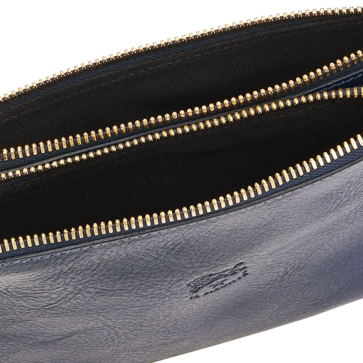 Women's Clutch Bag Talamone in Cowhide Double Leather BCL022 color Blue | Details