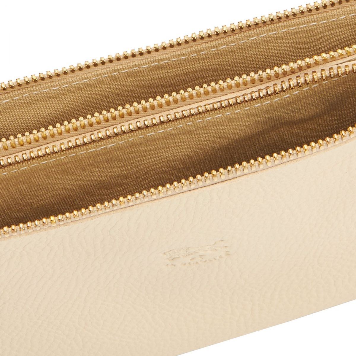 Women's Clutch Bag Talamone in Cowhide Double Leather BCL022 color Ivory | Details