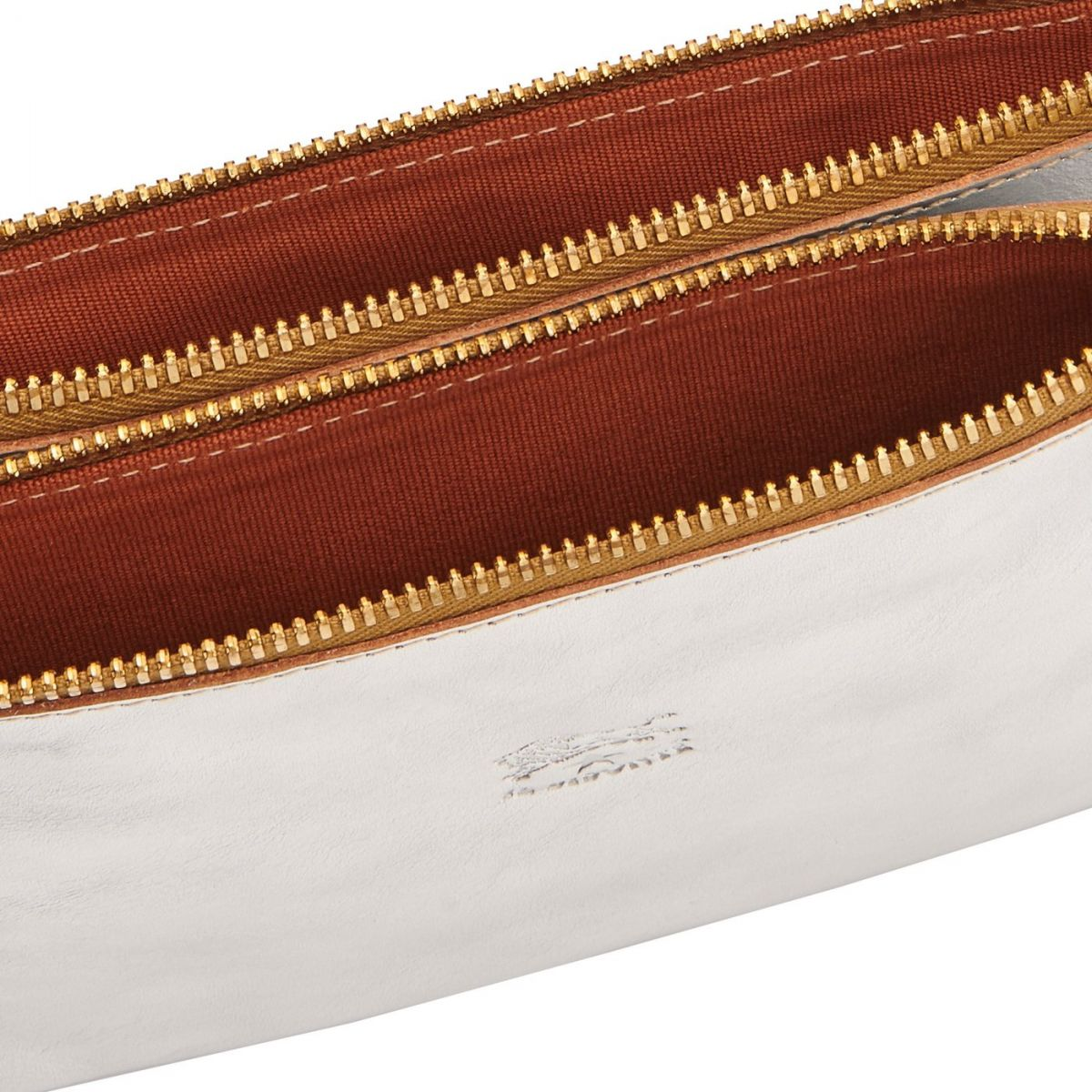 Women's Clutch Bag Talamone in Metallic Leather BCL022 color Metallic Silver | Details