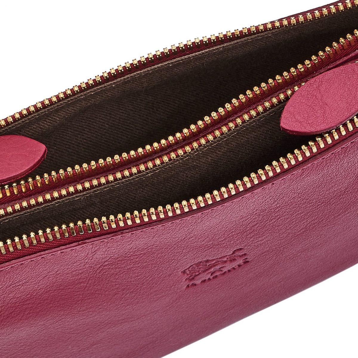 Pochette pour Femme Talamone en Cuir De Vachette BCL022 couleur Sumac | Details