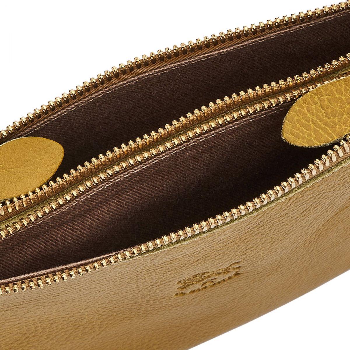 Giulia - Pochette pour Femme Talamone en Cuir De Vachette BCL022 couleur Curry | Details