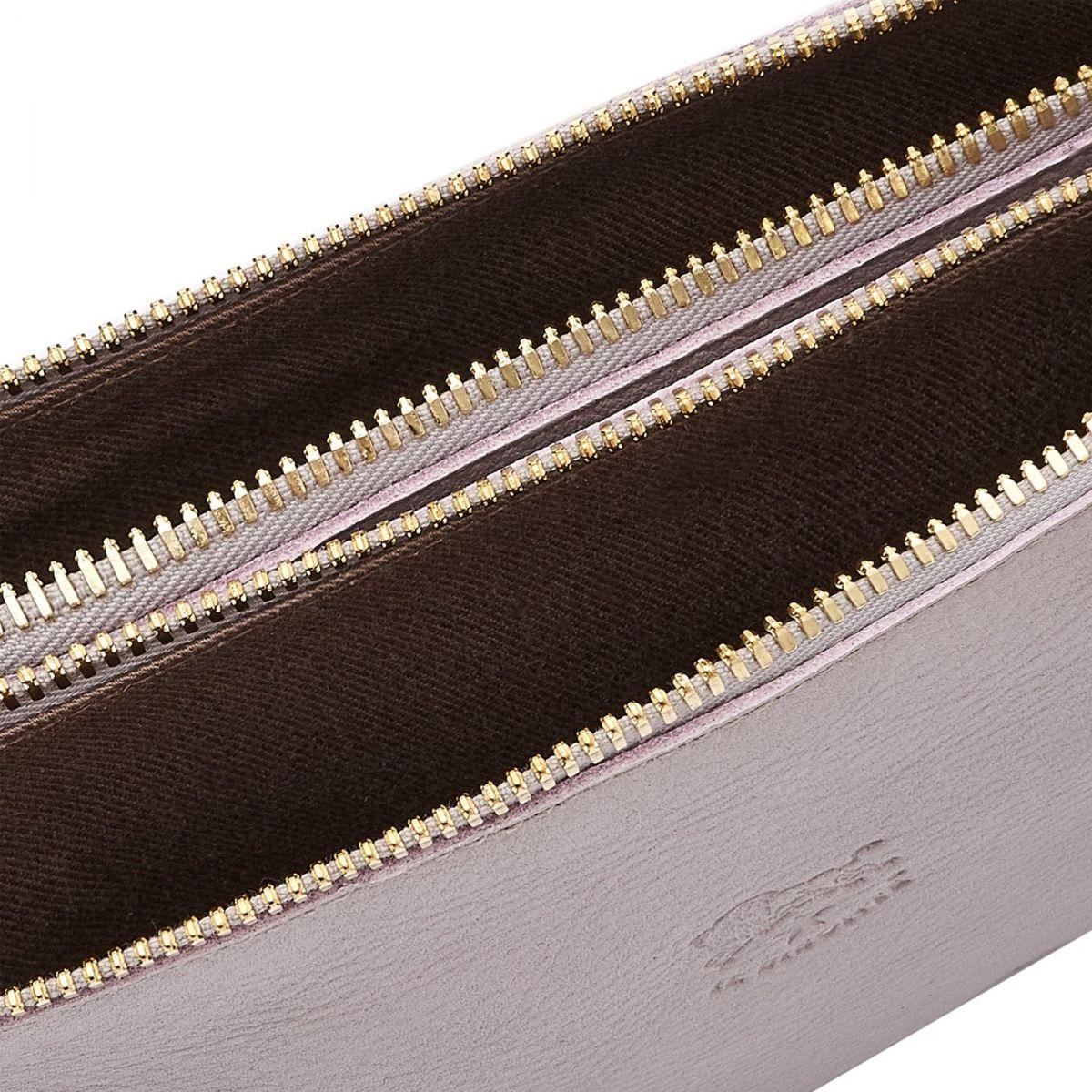 Giulia - Women's Clutch Bag in Cowhide Leather color Mauve - Talamone line BCL022 | Details