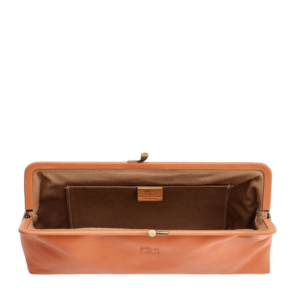 Women's Clutch Bag  in Soft Cowhide Leather BCL027 color Pink Pepper | Details