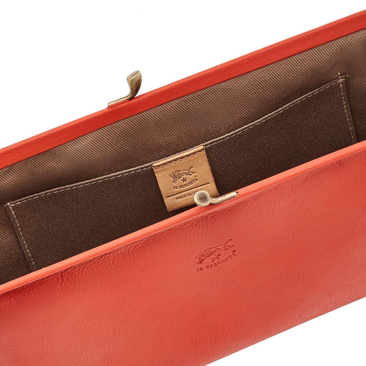 Pochette pour Femme en Cuir De Vachette BCL027 couleur Gazpacho | Details