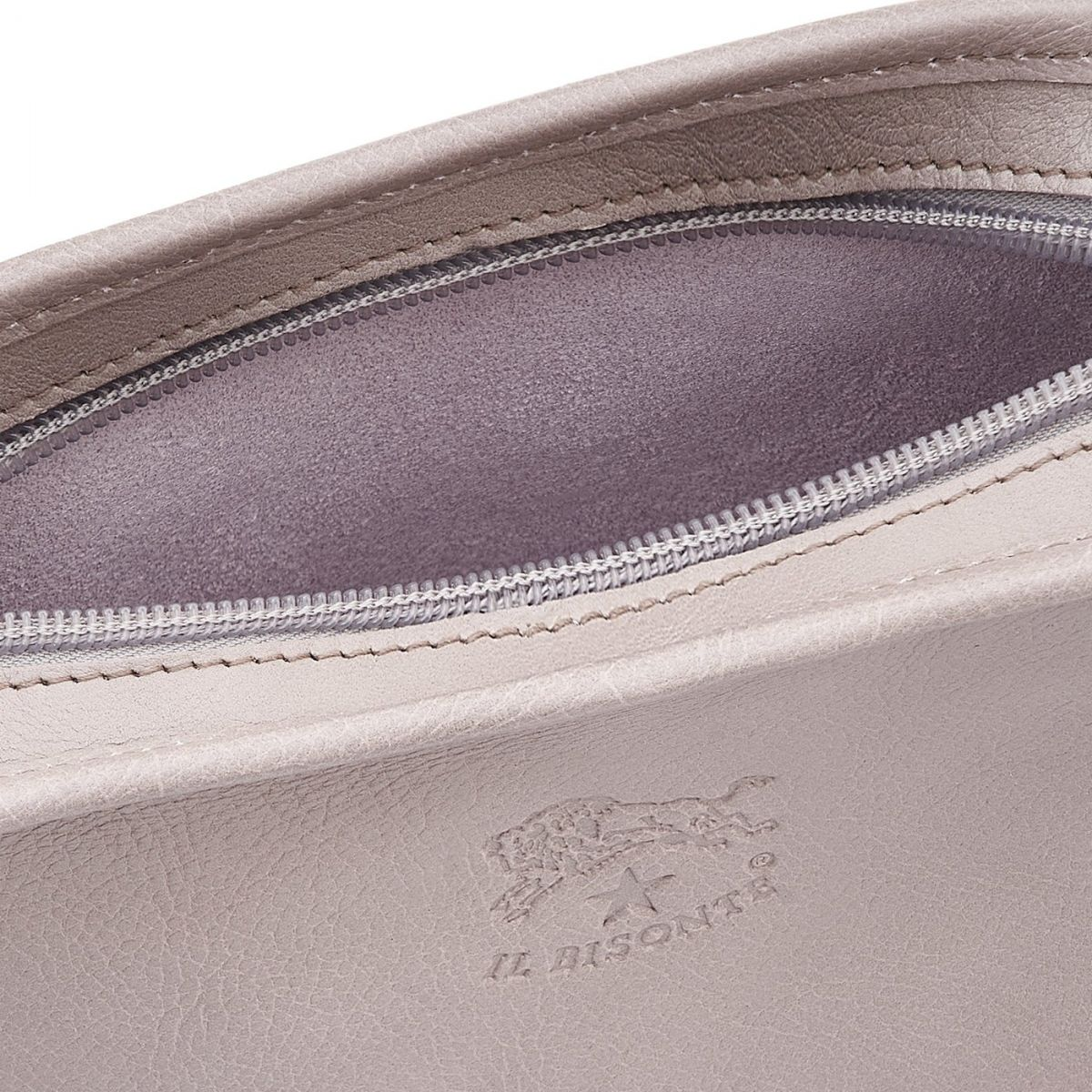 Women's Crossbody Bag in Cowhide Leather color Mauve - BCR009 | Details
