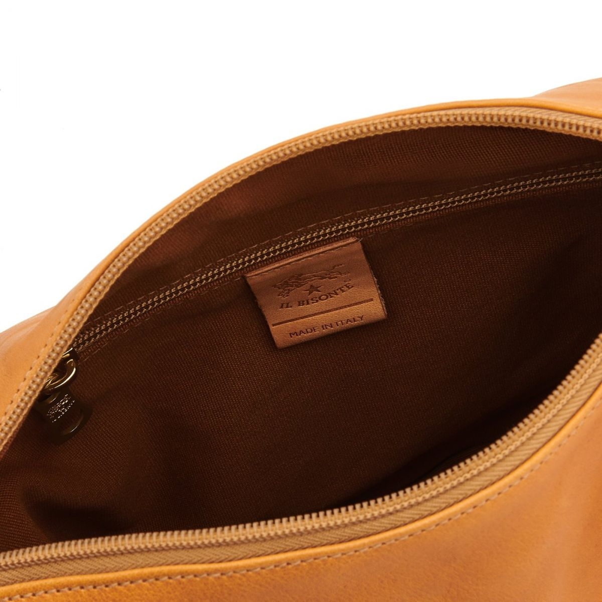 Women's Crossbody Bag in Vintage Cowhide Leather BCR012 color Natural | Details