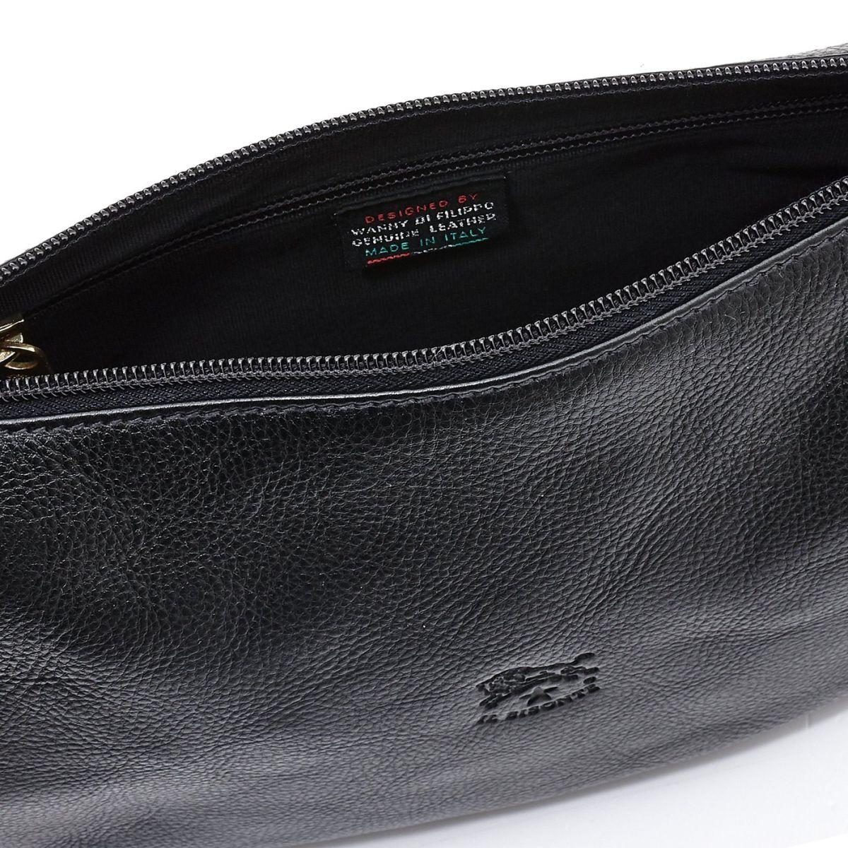 Sac Bandouliere pour Femme en Cuir De Vachette Doublé BCR021 couleur Noir | Details