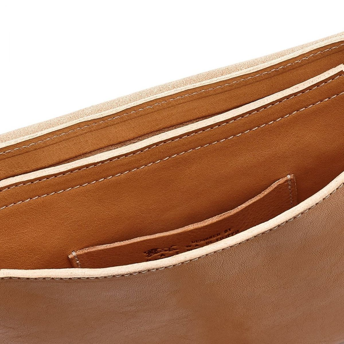 Women's Crossbody Bag in Cowhide Double Leather BCR027 color Natural | Details