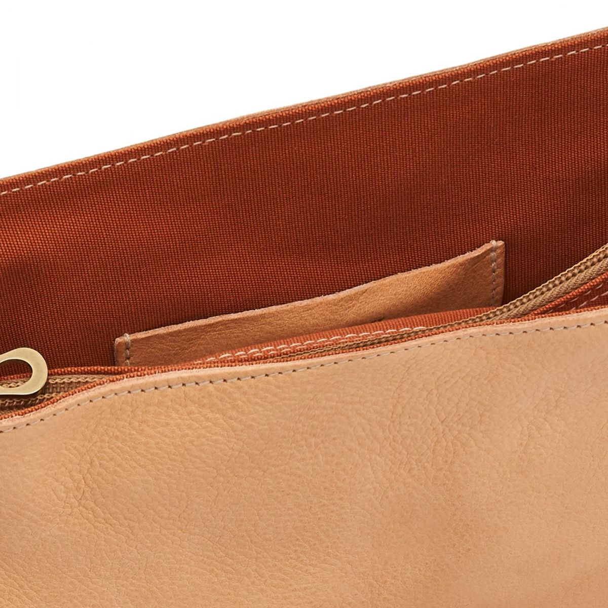 Women's Crossbody Bag in Cowhide Double Leather BCR028 color Natural | Details