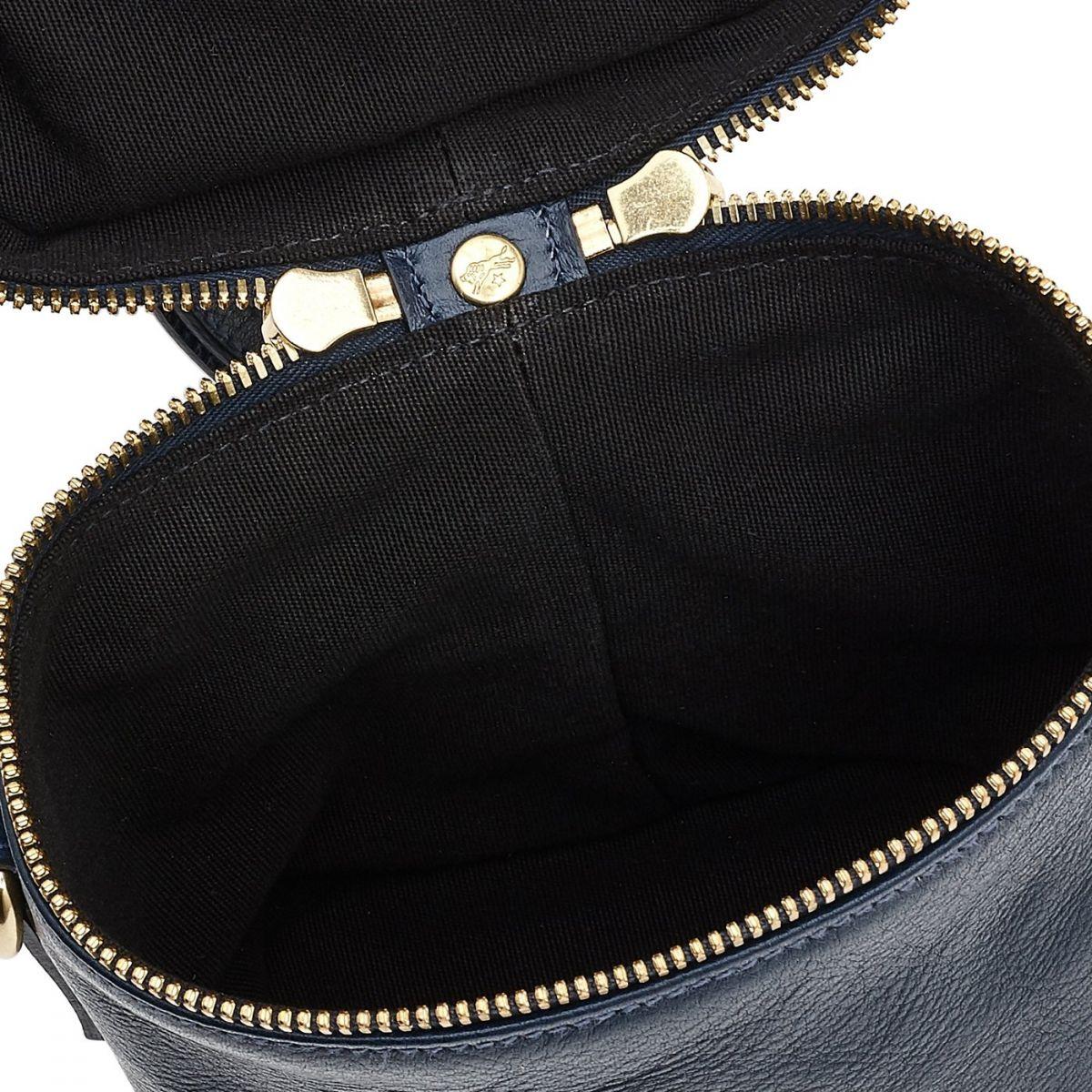 Sac Bandouliere pour Femme Pratolino en Cuir De Vachette Doublé BCR084 couleur Bleu | Details