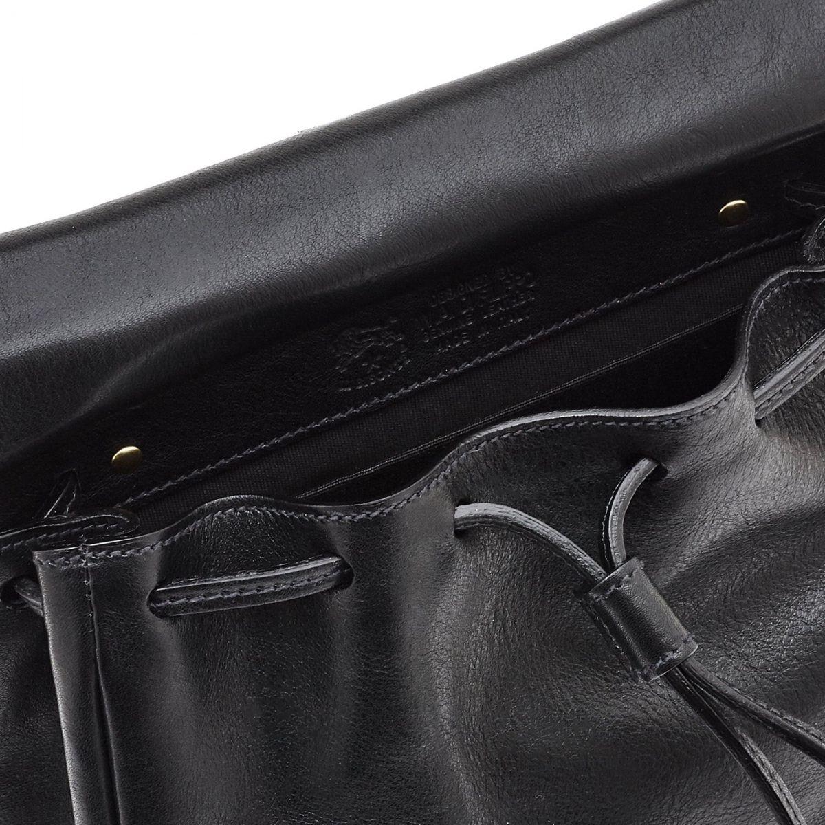 Sac Bandouliere pour Femme Tornabuoni en Cuir De Vachette Doublé BCR086 couleur Noir | Details