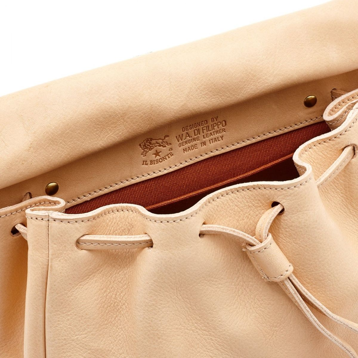 Women's Crossbody Bag Tornabuoni in Cowhide Double Leather BCR086 color Natural | Details