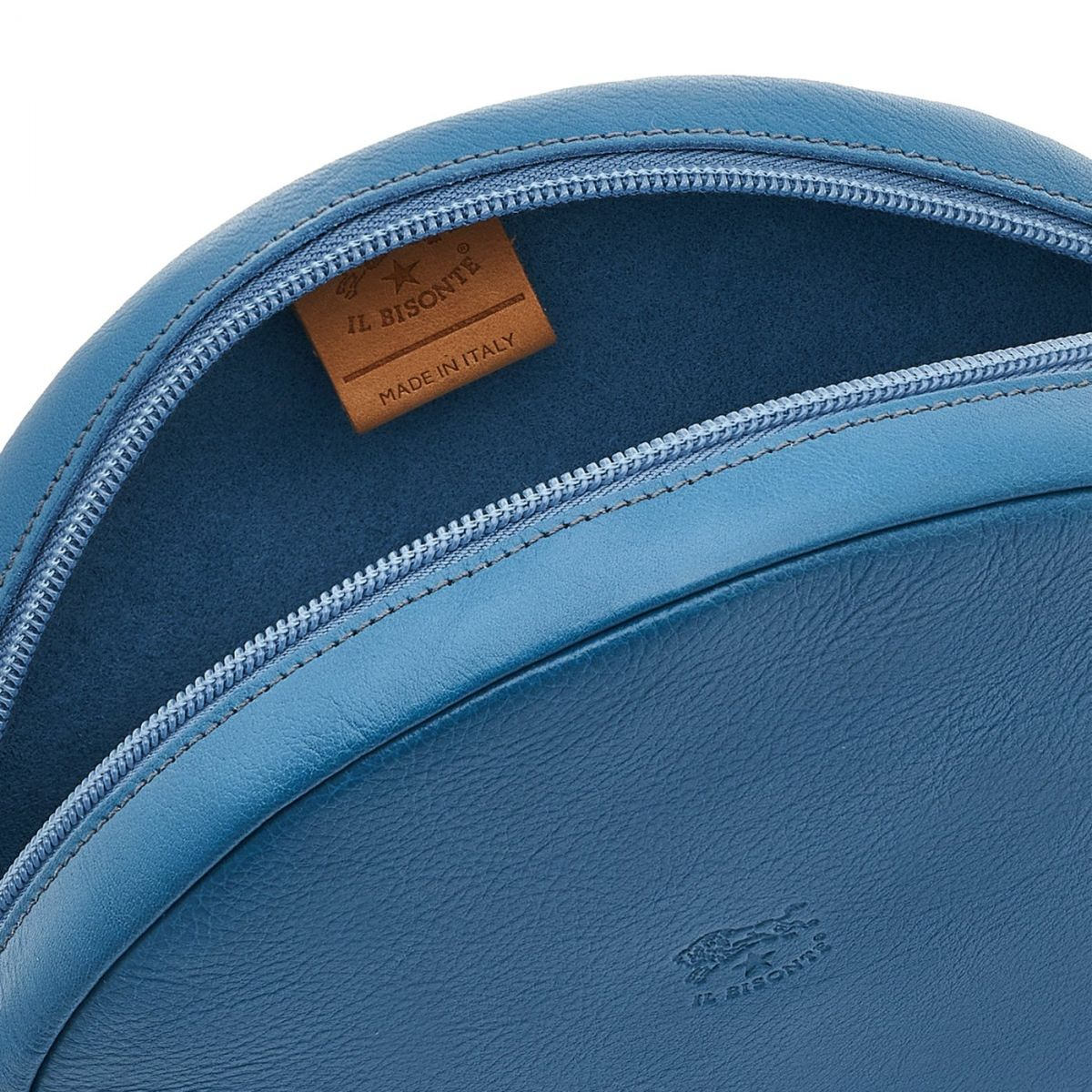 Disco Bag - Sac Bandouliere pour Femme en Cuir De Vachette couleur Bleu Sarcelle - Ligne Candy BCR094 | Details