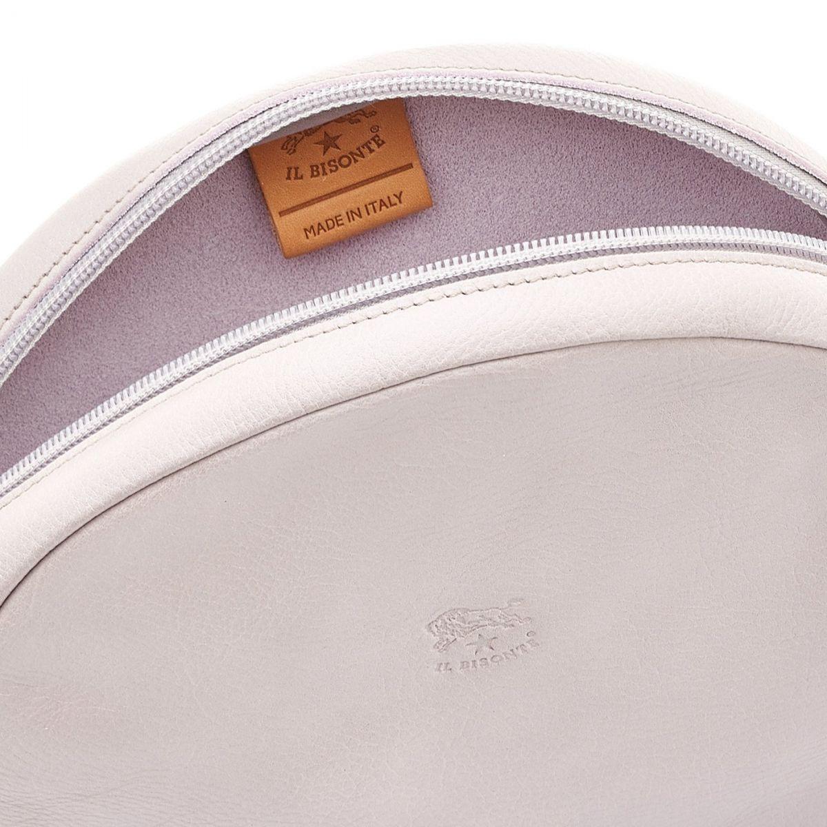 Disco Bag - Sac Bandouliere pour Femme en Cuir De Vachette couleur Mauve - Ligne Candy BCR094 | Details