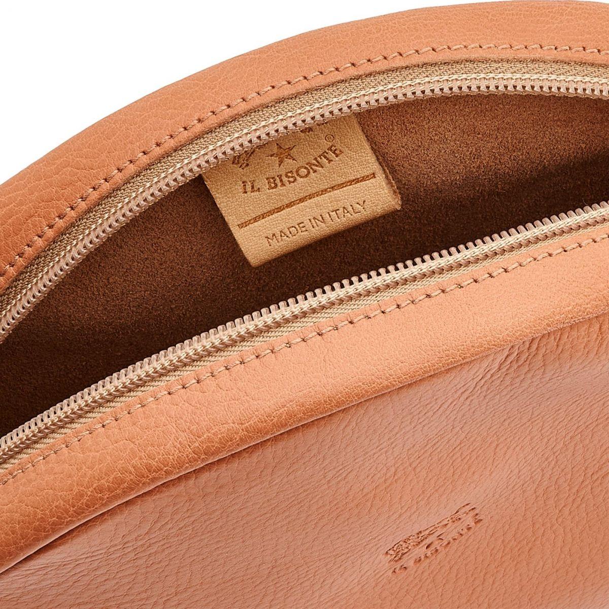 Disco Bag - Sac Bandouliere pour Femme Candy en Cuir De Vachette BCR094 couleur Poivre Rose | Details