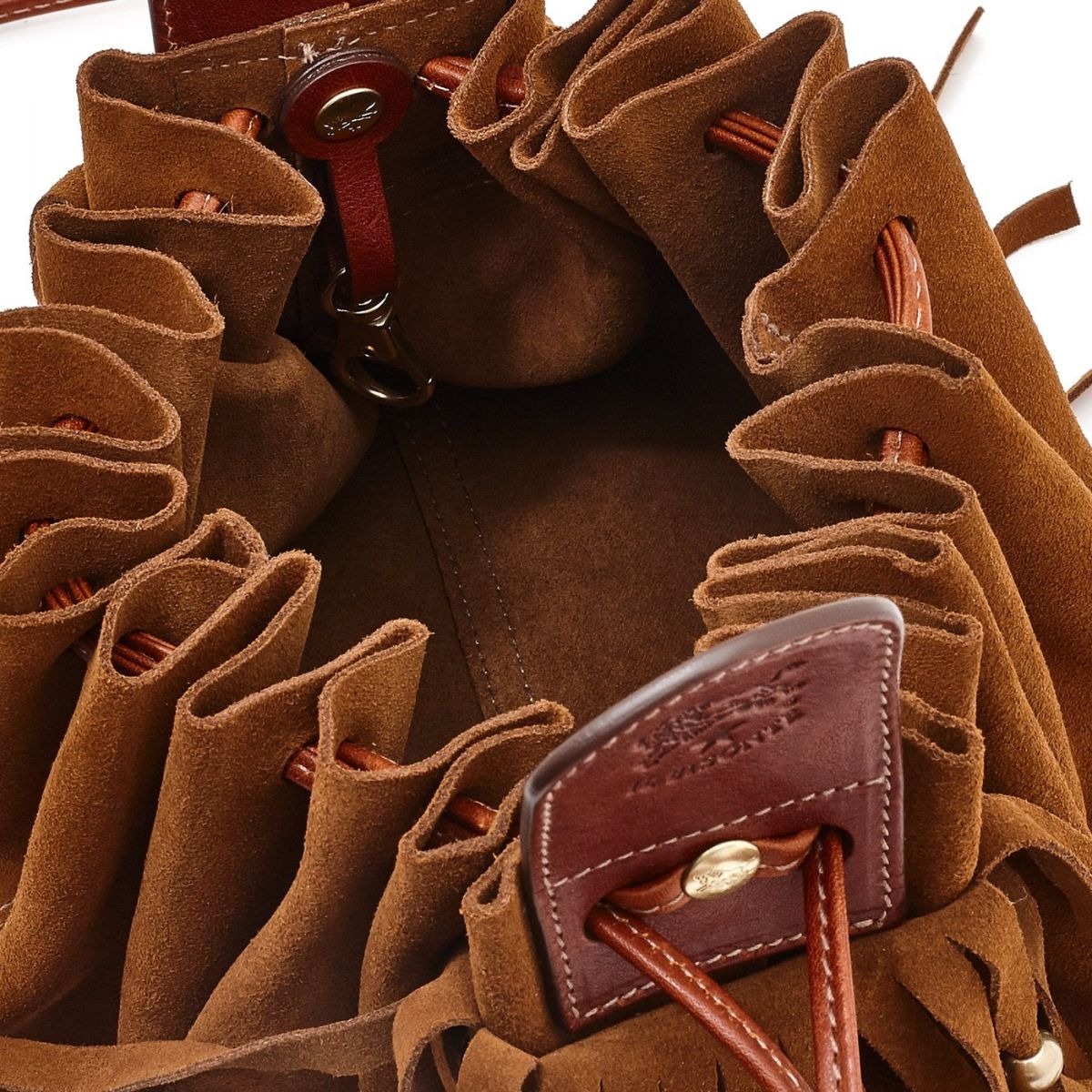 Women's Crossbody Bag Talamone in Suede BCR113 color Hazelnut | Details