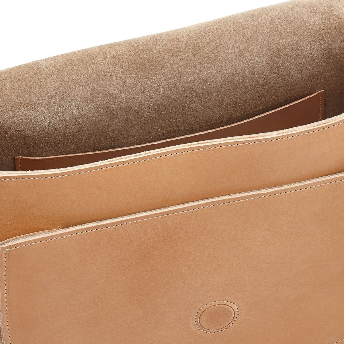 Women's Crossbody Bag in Cowhide Leather color Natural - Loop line BCR143 | Details