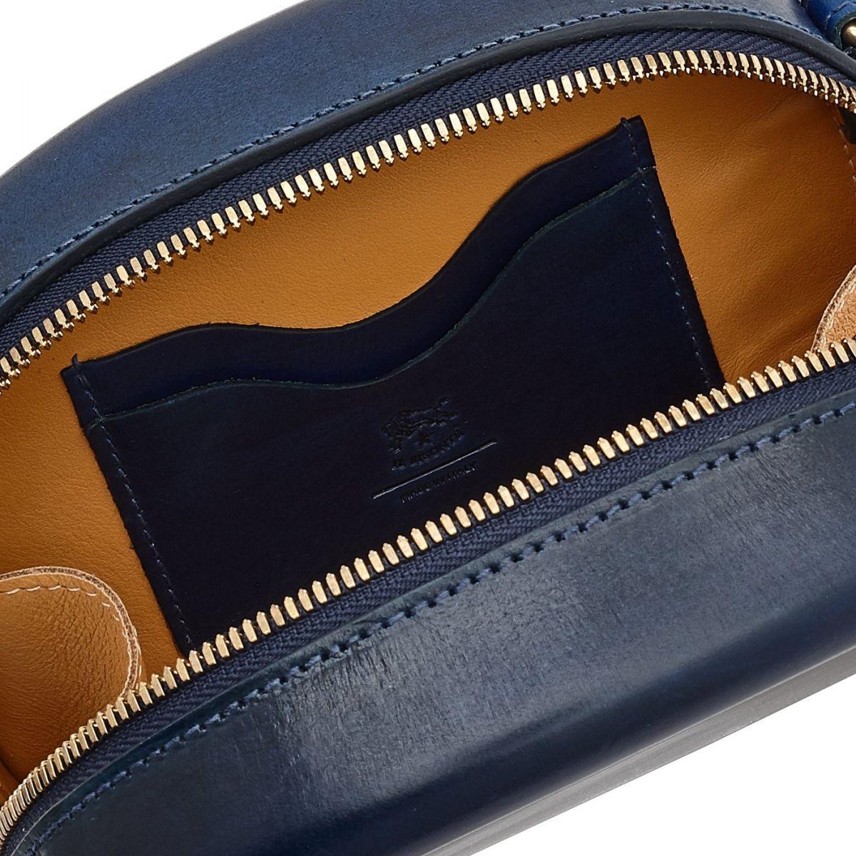 Sac Bandouliere pour Femme  en Cuir BCR147 couleur Bleuets | Details