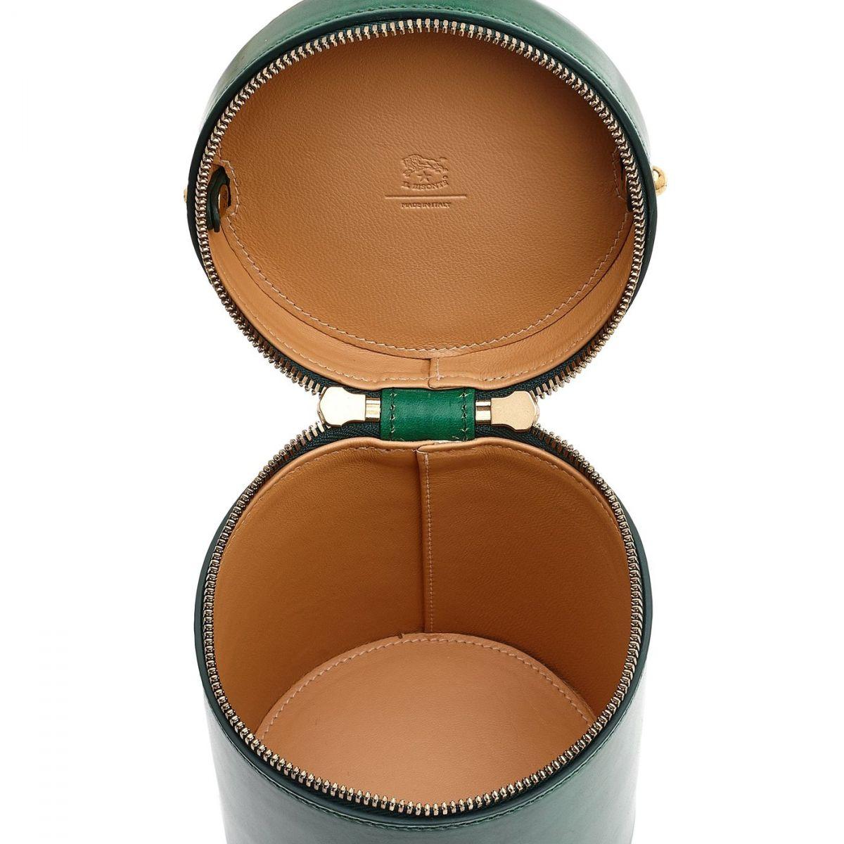Sac Bandouliere pour Femme  en Cuir BCR148 couleur Vert | Details