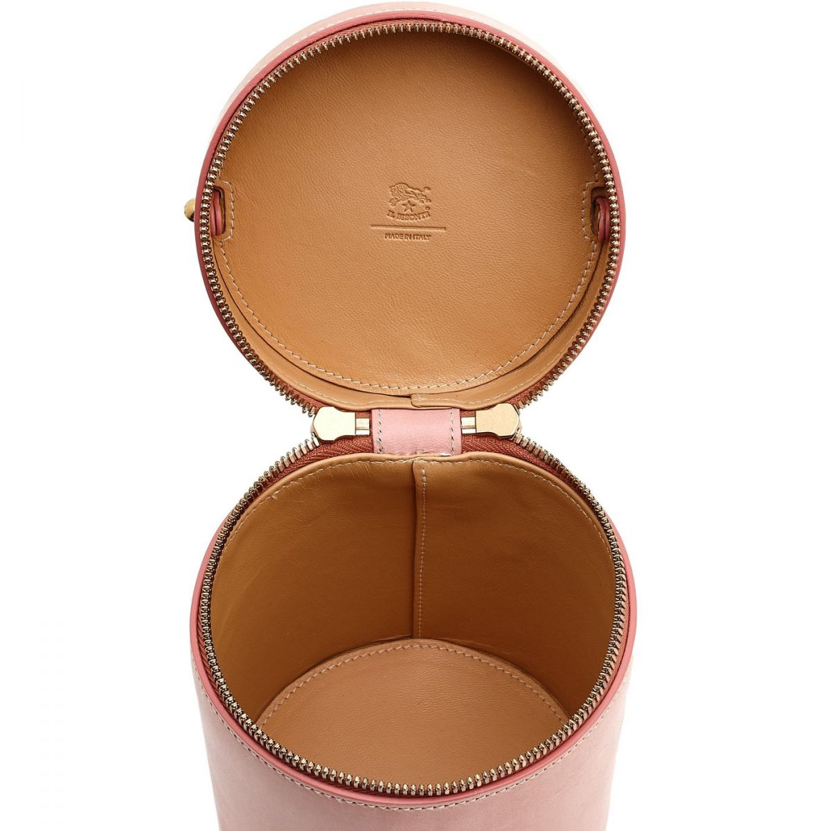 Women's Crossbody Bag  in Leather BCR148 color Pink   Details