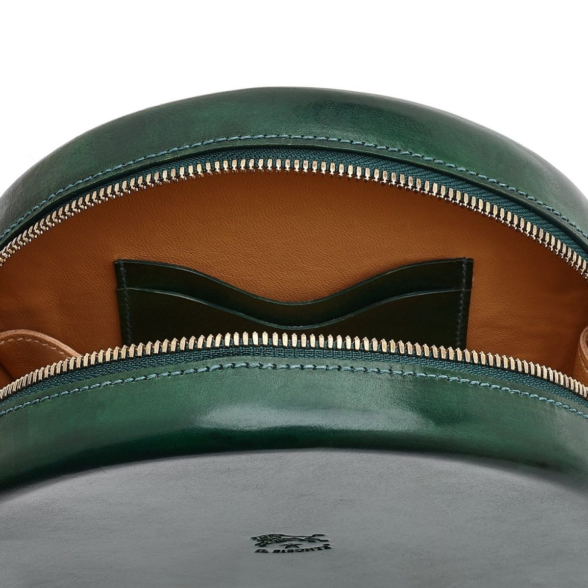 Women's Crossbody Bag  in Leather BCR149 color Green | Details