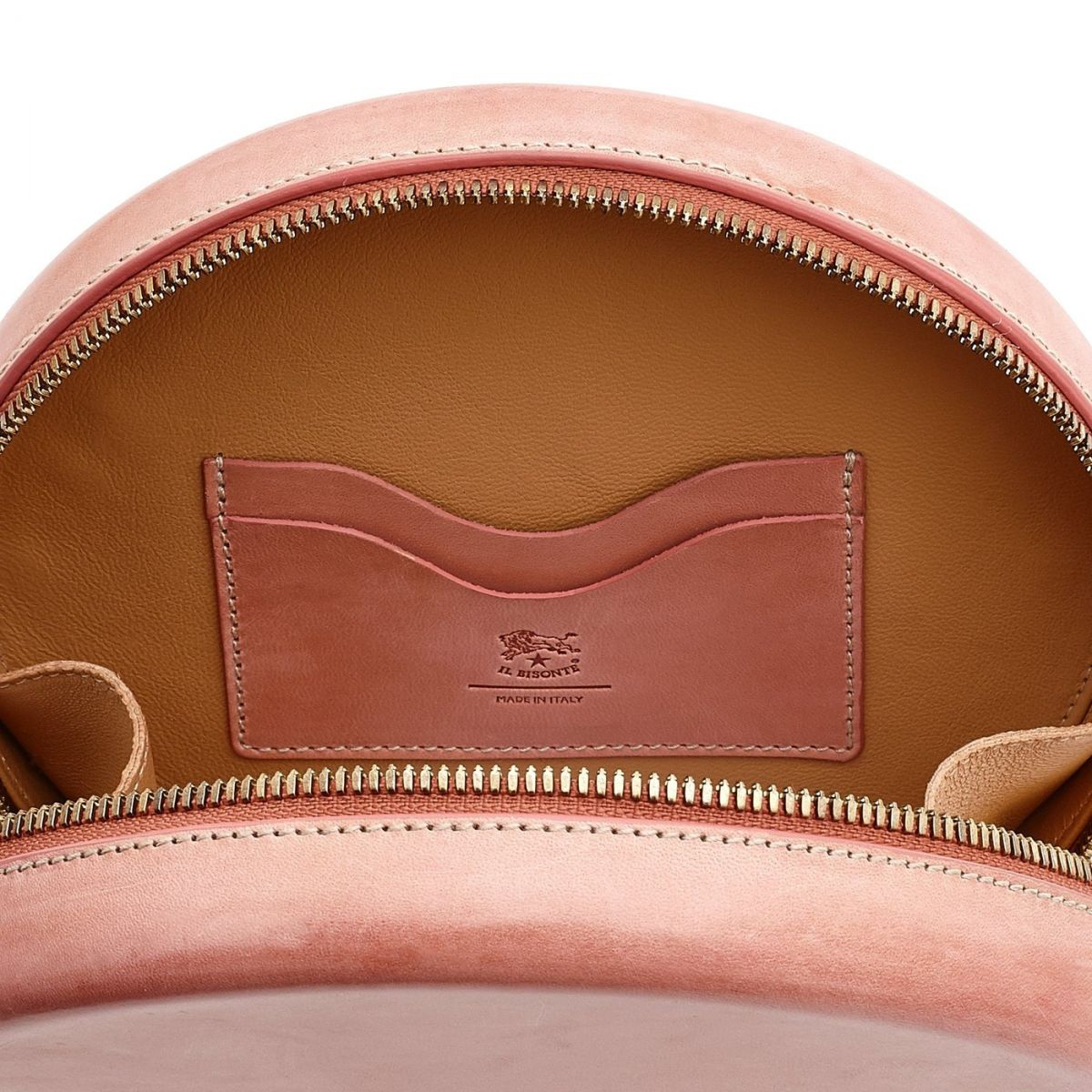 Women's Crossbody Bag  in Leather BCR149 color Pink | Details